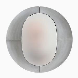 Large Etched Aluminum Mirror by Lorenzo Burchiellaro, 1970s
