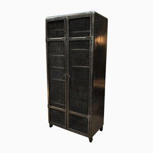 Industrial Locker with Two Grid Doors, 1950s