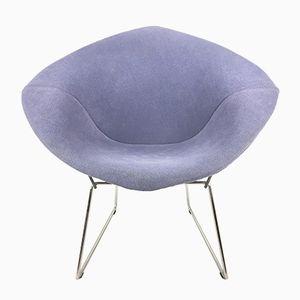 Blauer Vintage Diamond Stuhl von Harry Bertoia für Knoll