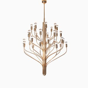 Brass Chandelier with 32 Lights, 1960s