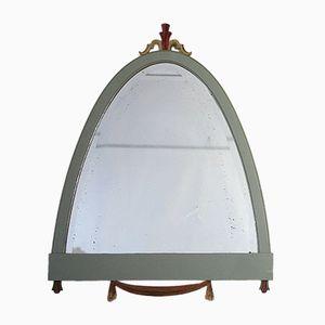 Gustavianischer Spiegel mit Holzrahmen und Geschliffenem Glas