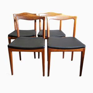 Mid-Century Teak Stühle, 4er Set