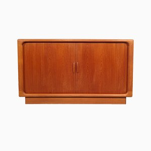 Vintage Teak Sideboard with Tambour Doors from Dyrlund