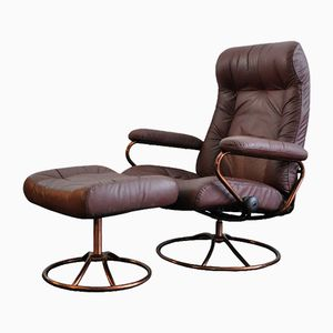 Vintage Stressless Chair with Footstool from Ekornes