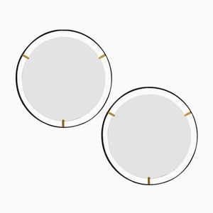Italian Minimalist Mirrors, 1950s, Set of 2