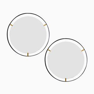 Italienische Minimalistische Spiegel, 1950er, 2er Set