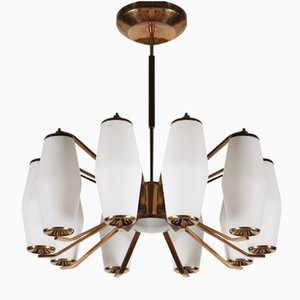 Large Model 1185 Ceiling Lamp from Stilnovo, 1950s