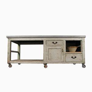 Vintage Industrial Pine Workbench