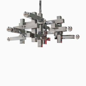 Mid-Century Metric Chandelier by Gaetano Sciolari for Lightolier, 1960s