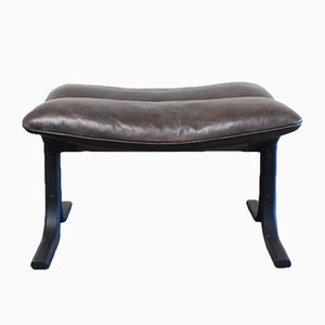 Vintage DS 2030 Leather Ottoman by Hans Eichenberger for De Sede