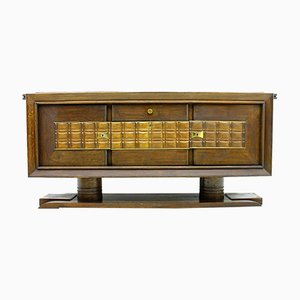 Vintage Brutalist French Sideboard by Charles Dudouyt, 1940s