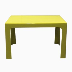 Yellow Fiberglass Side Table by Marc Berthier for Prisunic, 1970s