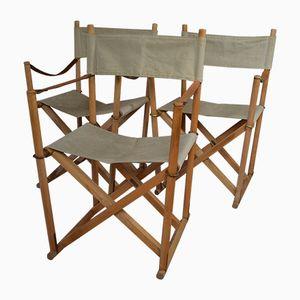 Dänische MK-16 Safari Stühle von Mogens Koch für Interna, 1960er, 3er Set