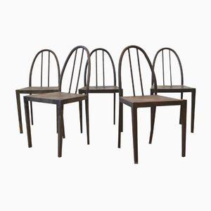 Bauhaus Stühle mit Rohrgestell aus Stahl, 1930er, 5er Set