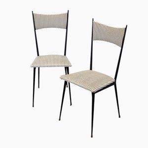 Italienische Vintage Stühle mit Gemusterten Bezügen, 2er Set