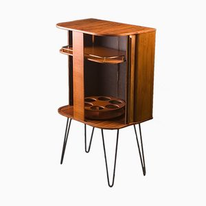 Mid-Century Bar Cabinet in Walnut from George Serlin and Sons, 1960s