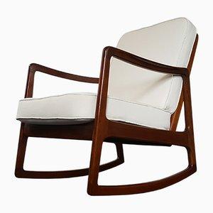 Sedia a dondolo di Ole Wanscher per France & Daverkosen, anni '50