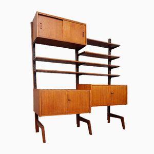 Libreria modulare vintage in teak