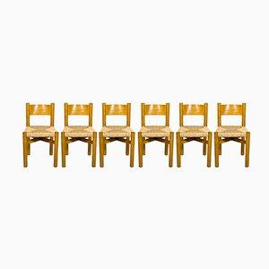 Meribel Stühle von Charlotte Perriand, 1950er, 6er Set