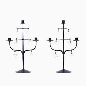 Kerzenständer von Erik Höglund für Boda, 2er Set