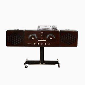 Mid-Century RR 126 Dark Brown Record Player by Pier Giacomo & Achille Castiglioni for Brionvega, 1960s