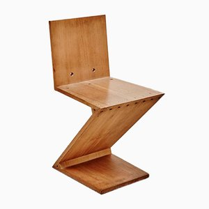 Albatros chair by gerrit rietveld for sale at pamono for Chaise zig zag