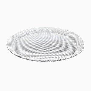 White Enameled Metal Plate by Mathieu Matégot for Artimeta, 1950s