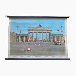 School Chart Depicting Brandenburger Gate from Heder Druck, 1958