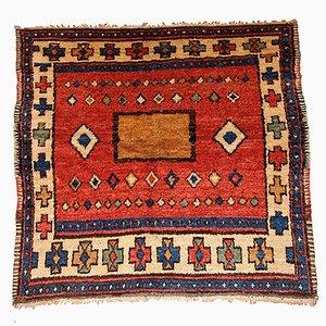 Antiker Handgemachter Türkischer Village Teppich, 1850er