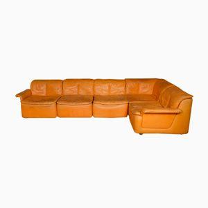 Vintage Modular Corner Sofa in Leather