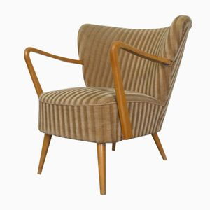 German Cocktail Chair in Beige with Armrests, 1960s