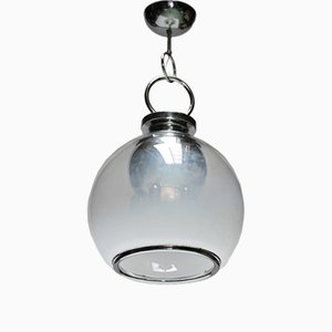 Mid-Century Six-Light Murano Glass Chandelier