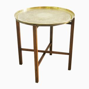 Small Side Table in Brass, 1940s