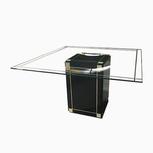 Italian Center Table with Glass Top, 1970s