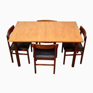 Mid-Century Teak Tisch und Stühle von Gordon Russell