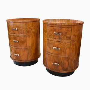 French Bedside Tables in Kingwood, Set of 2