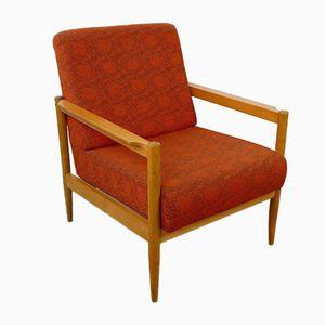 Oranger Mid-Century Sessel, 1960er