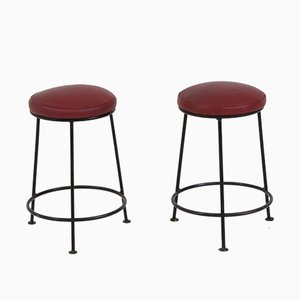 French Mid-Century Modern Stools, 1960s, Set of 2