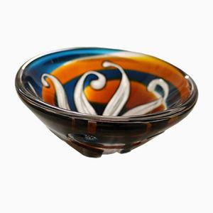 Unique Vintage Glass Bowl by Vicke Lindstrand for Kosta