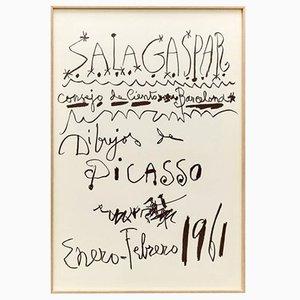 Originale Picasso Lithographie von Pablo Picasso, 1961