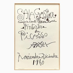 Original Picasso Lithographie von Pablo Picasso, 1960