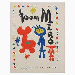 Dona i Ocell Lithograph by Joan Miro, 1948