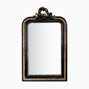 Miroir Antique Noirci et Doré Louis Philippe