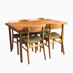 Vintage Dining Table with Four Chairs from Farstrup Møbler