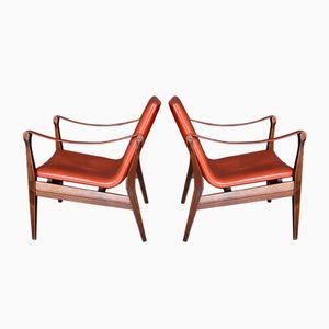 Safari Sessel von Karen & Ebbe Clemmensen für Fritz Hansen, 1958, 2er Set