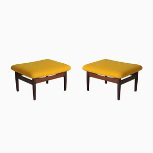 FD 137 Stools from the Japan Series by Finn Juhl for France & Søn, 1953, Set of 2