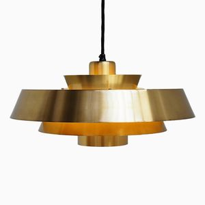 Mid-Century Nova Pendant in Brass by Jo Hammerborg for Fog Morup