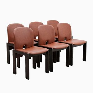 Vintage Modell 121 Esszimmerstühle von Afra & Tobia Scarpa für Cassina, 6er Set