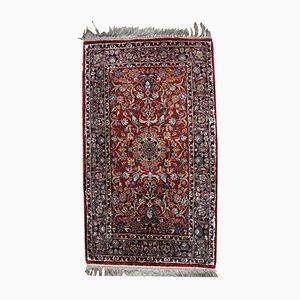 Vintage Handmade Indian Silk Rug, 1980s
