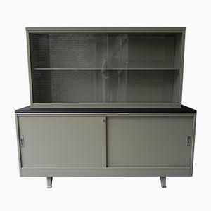 Vintage Steel Two-Part Cabinet from TDS Sclessin, 1950s